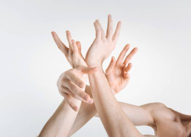 hands expressing grace