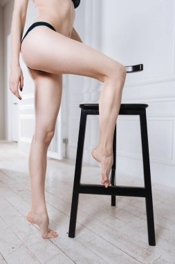 female legs standing on toes