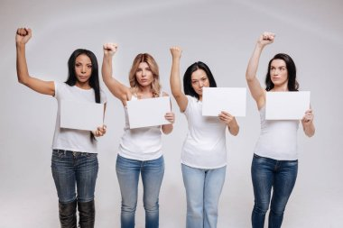 female activists protesting against something