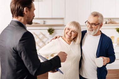 advisor meeting with senior couple