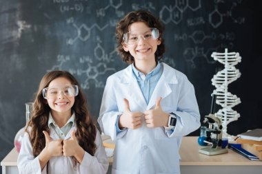 researchers enjoying science