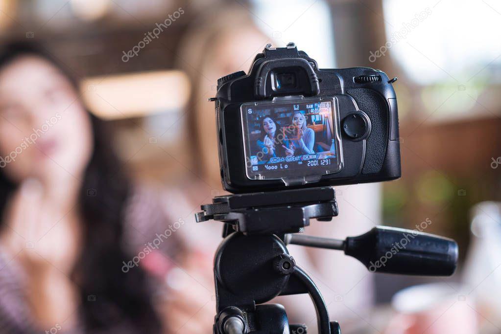 Selective focus of a camera screen