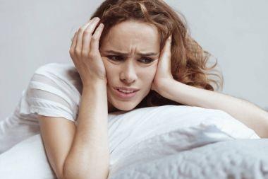 Depressed woman having nervous breakdown