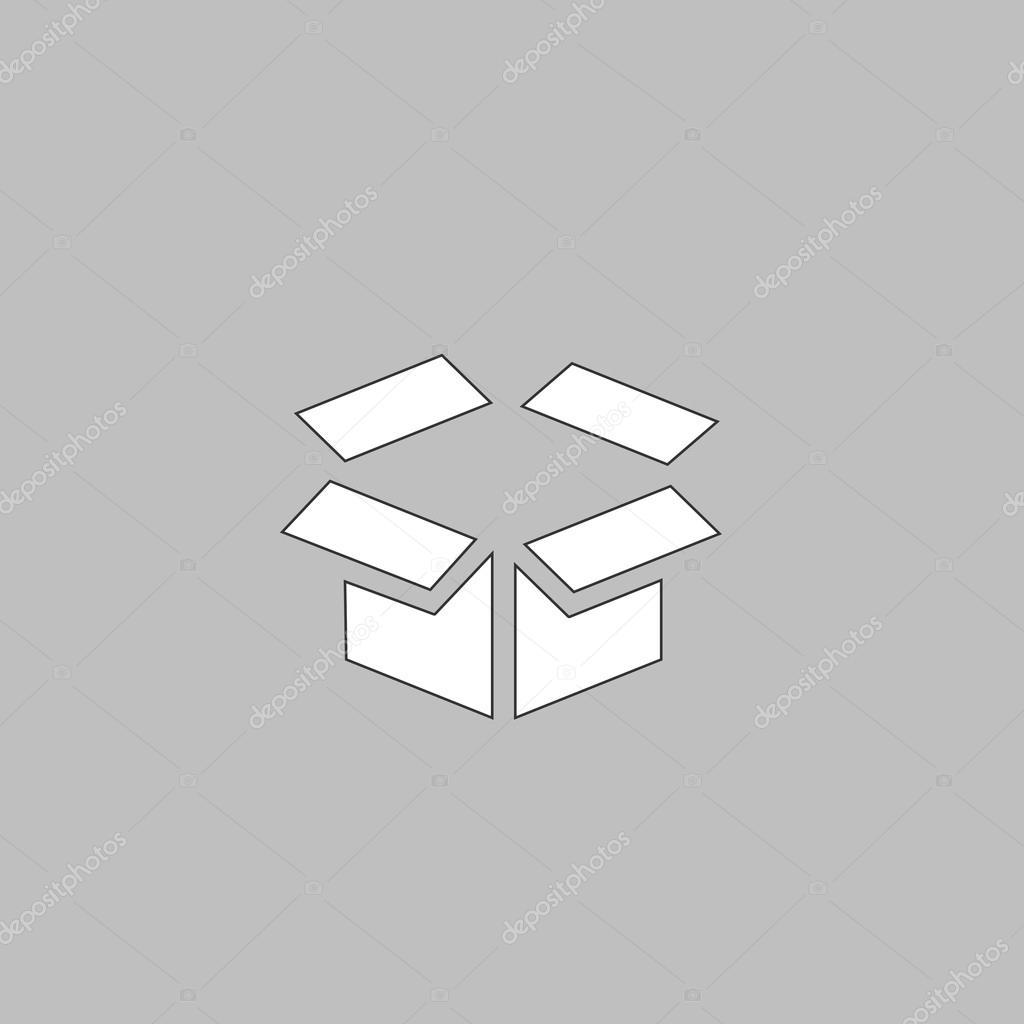Open Box Computer Symbol Stock Vector Burntime555 126447660