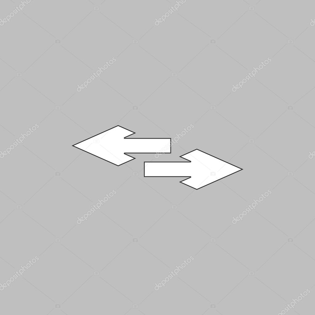 Side Arrow Computer Symbol Stock Vector Burntime555 126500936