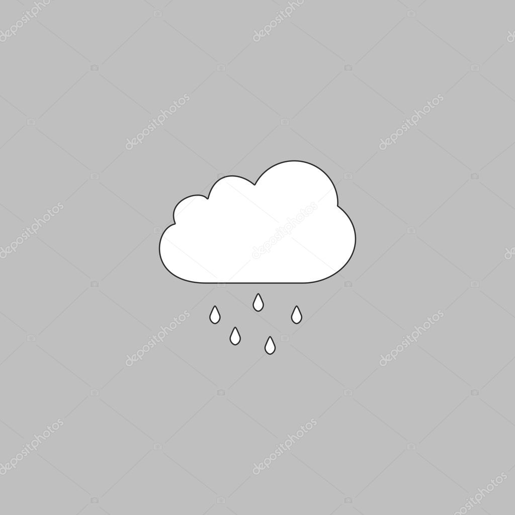 Rain cloud computer symbol stock vector burntime555 126524484 rain cloud simple line vector button thin line illustration icon white outline symbol on grey background vector by burntime555 buycottarizona Choice Image