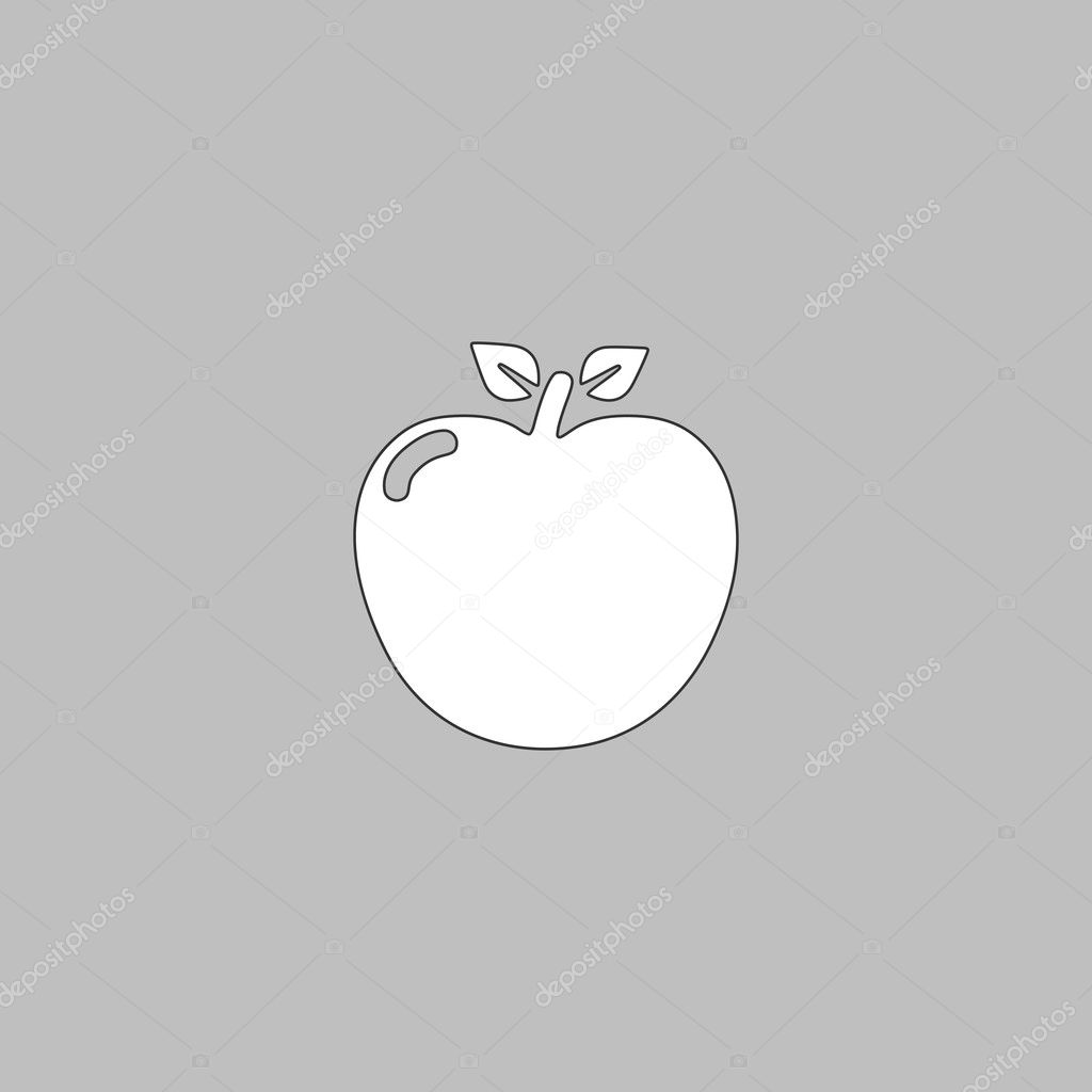 Apple computer symbol stock vector burntime555 126556714 apple simple line vector button thin line illustration icon white outline symbol on grey background vector by burntime555 buycottarizona Choice Image