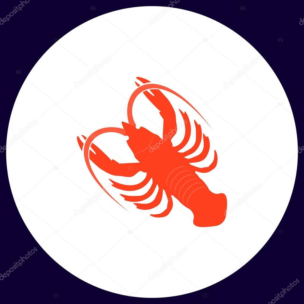 Lobster Computer Symbol Stock Vector Burntime555 128076316