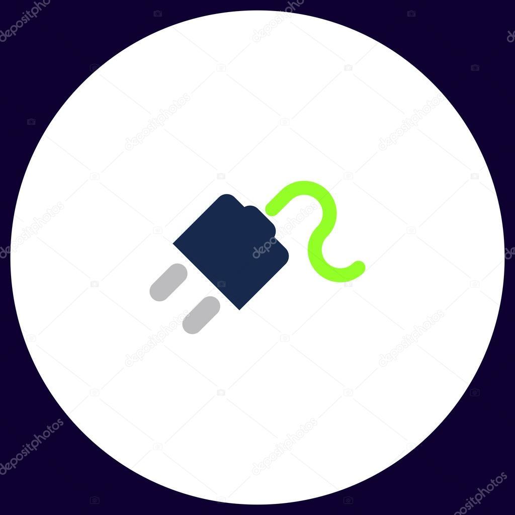 Energie Kabel Computer symbol — Stockvektor © burntime555 #128116902