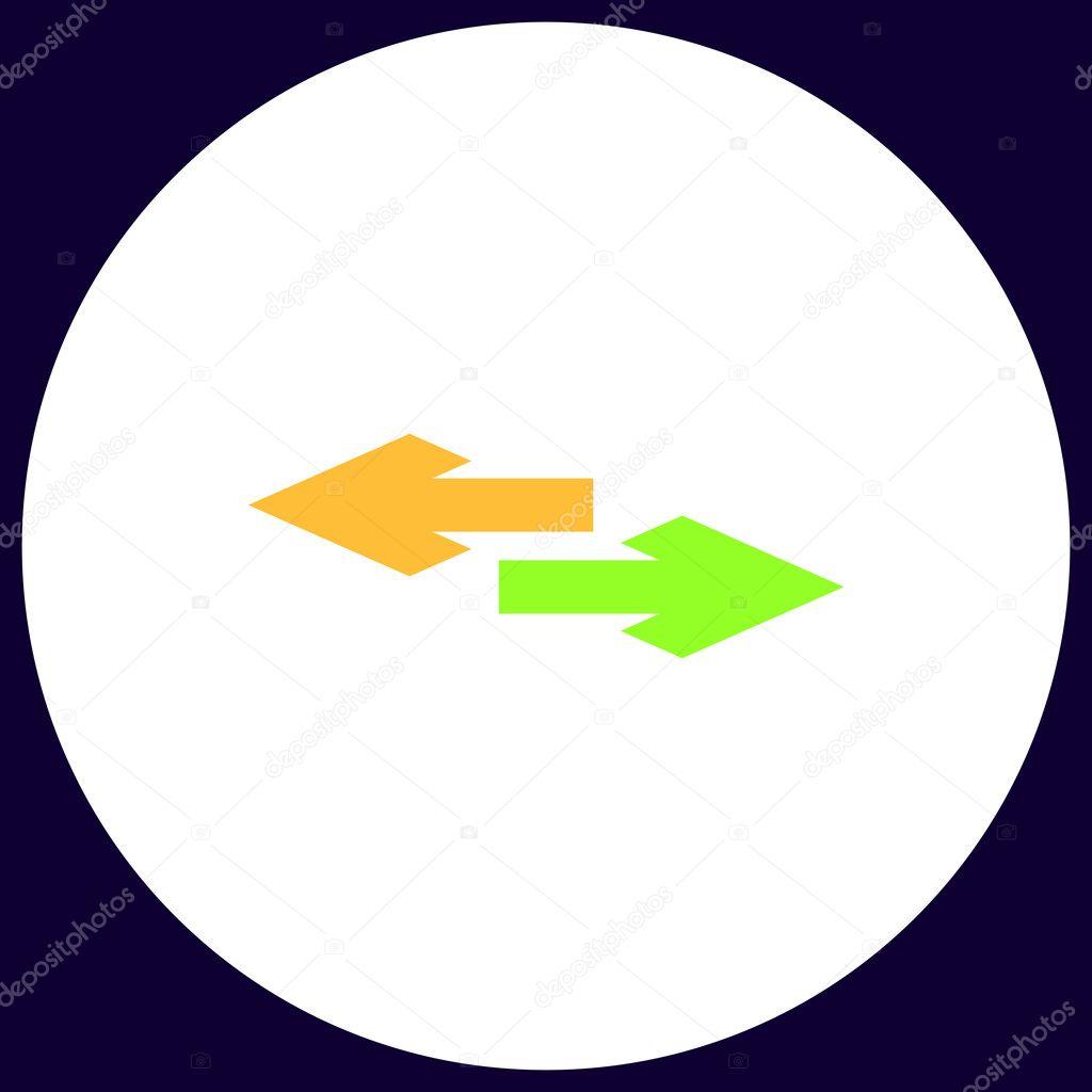 Side Arrow Computer Symbol Stock Vector Burntime555 128124622
