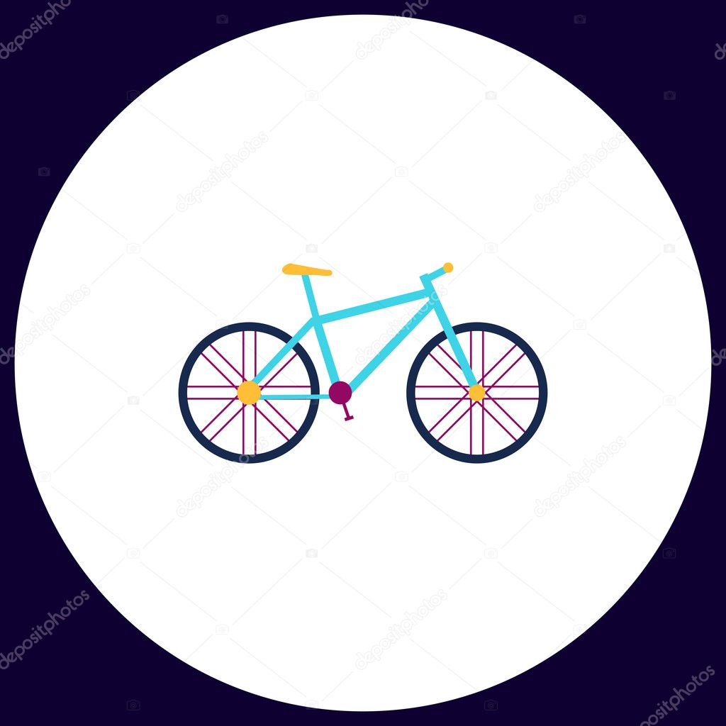 Bicycle Computer Symbol Stock Vector C Burntime555 128126500