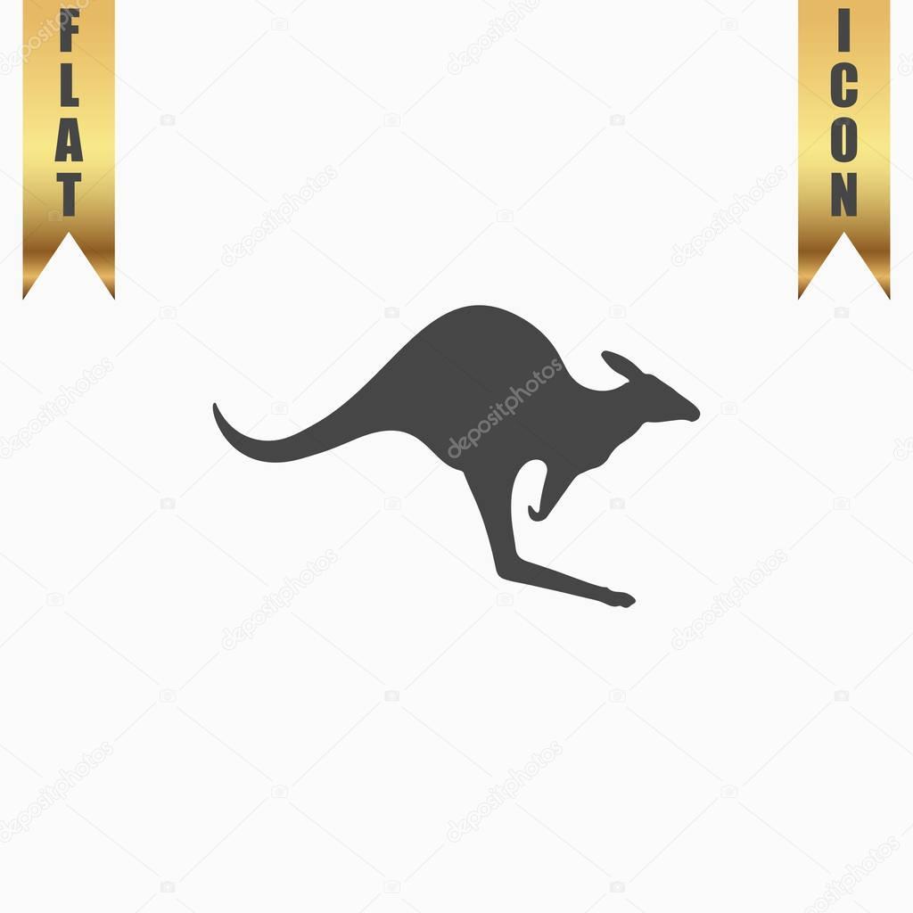 Kangaroo icon vector