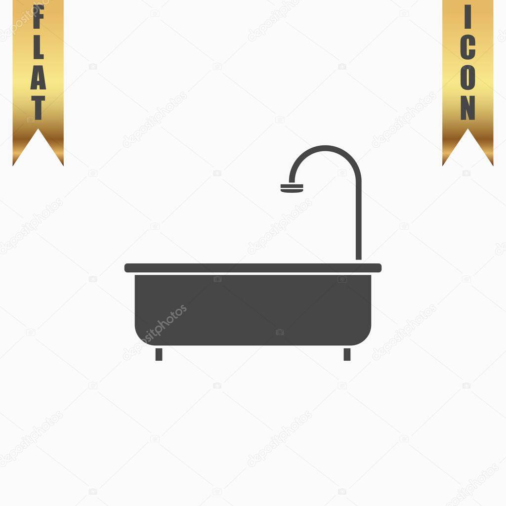 Bathtub flat icon