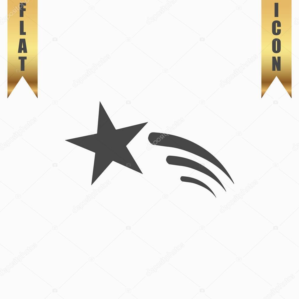 Shooting Star Vector Icon Stock Vector Burntime555 129399234