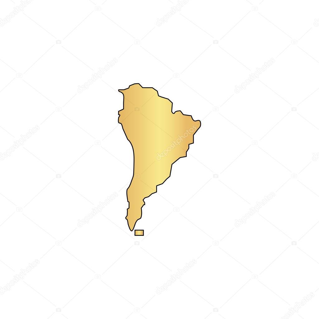 South america computer symbol