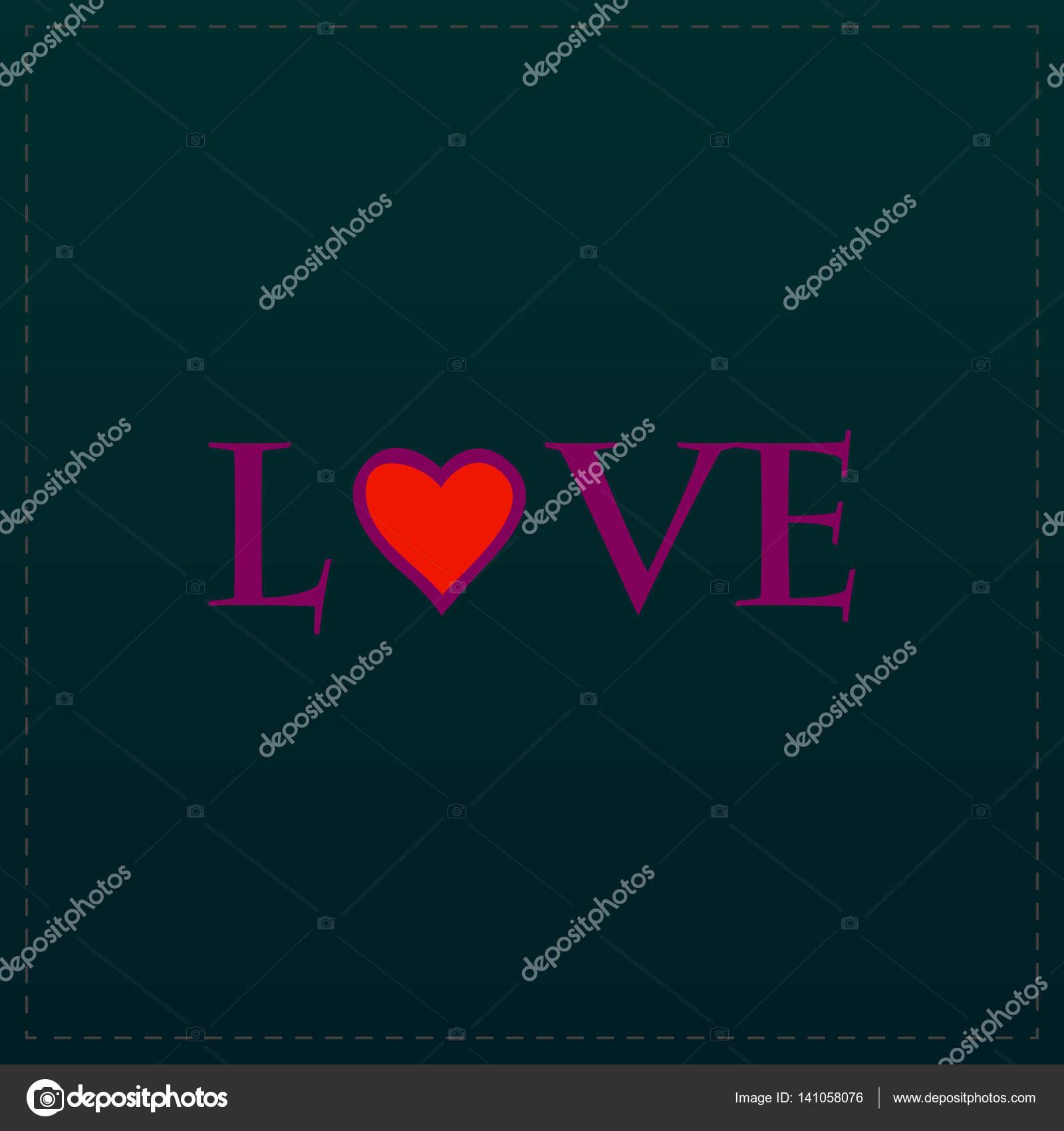 Amore Del Testo Stilizzato Vettoriali Stock Burntime555 141058076