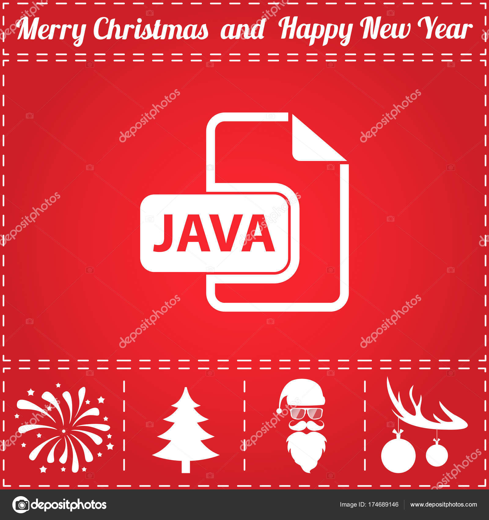 Albero Di Natale Java.Vettore Albero Di Giava Vettore Dell Icona Di Java Vettoriali