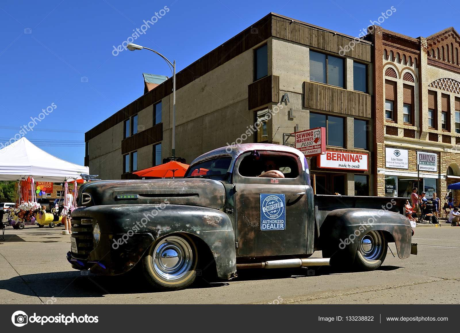 Old Ford pickup advertises Chrysler – Stock Editorial Photo ...