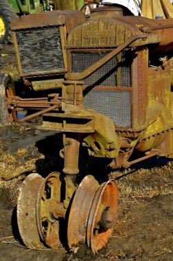 Old rusty Fordson tractor