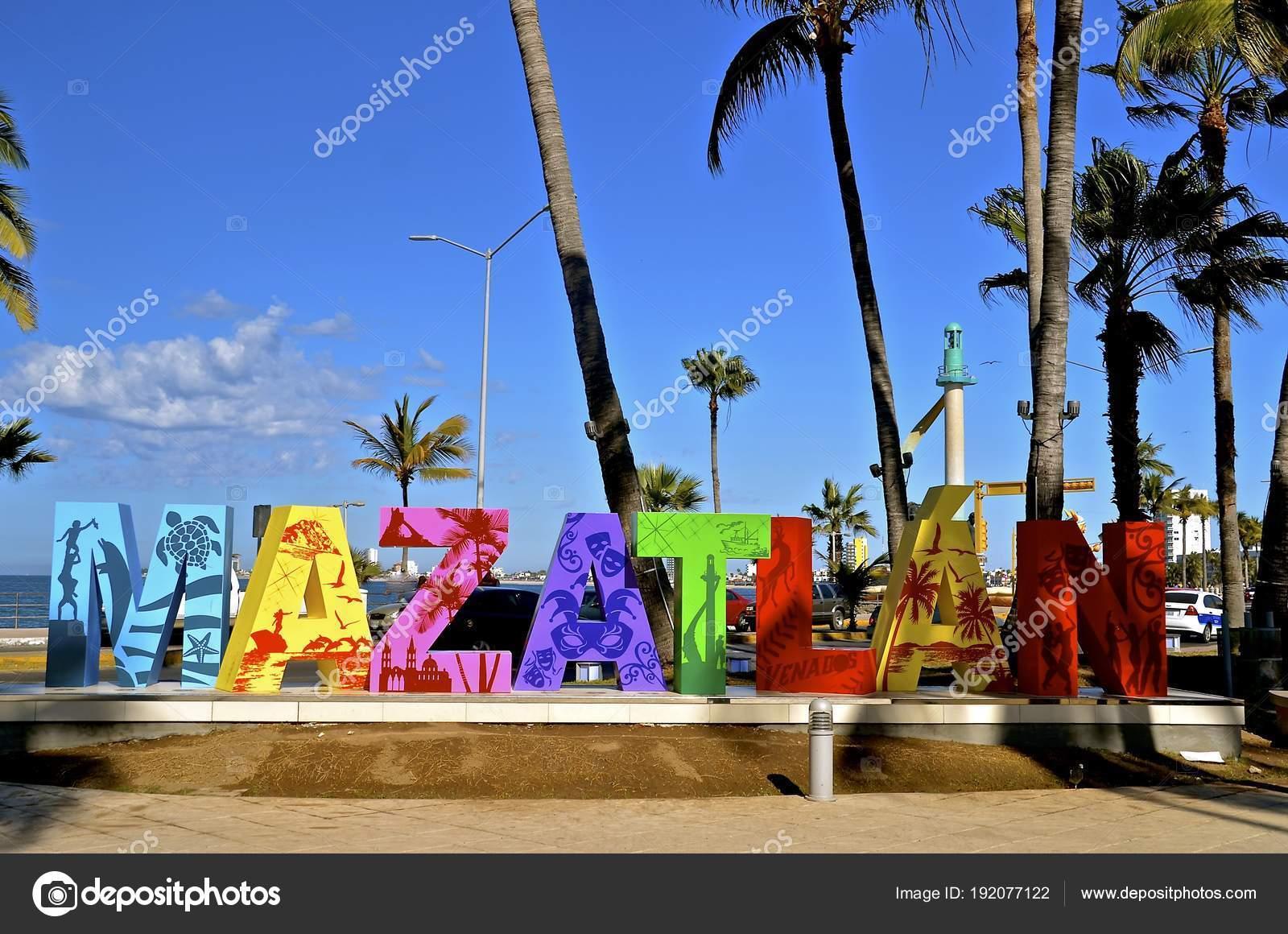 mazatlan mexico january 2017 letters mazatlan art work welcome