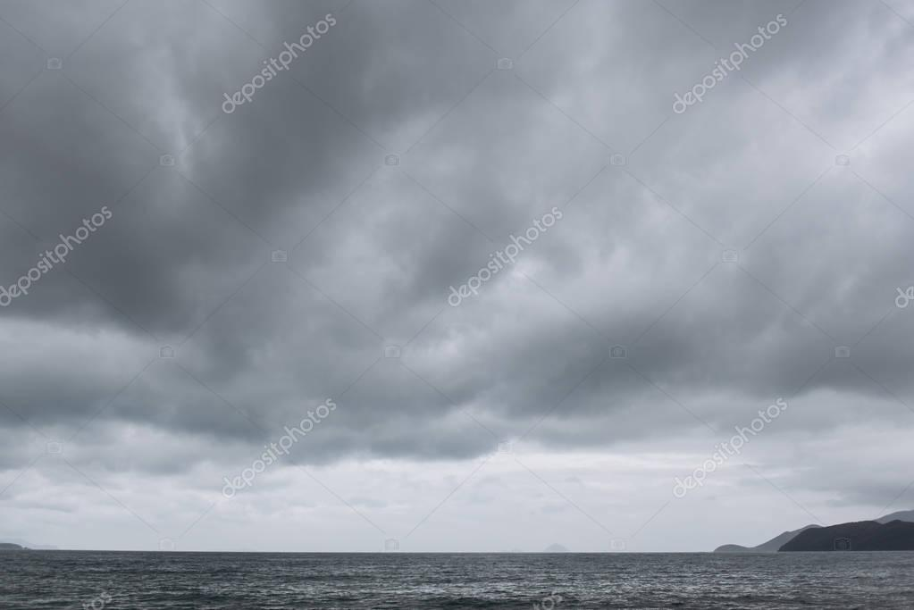 Scenic view of cloudy grey sky background