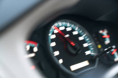 blur light of speed gauge.