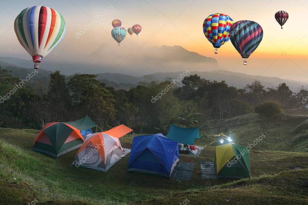 Tent travel balloon travel