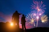 Fotografie Feuerwerk und feiern zu sehen