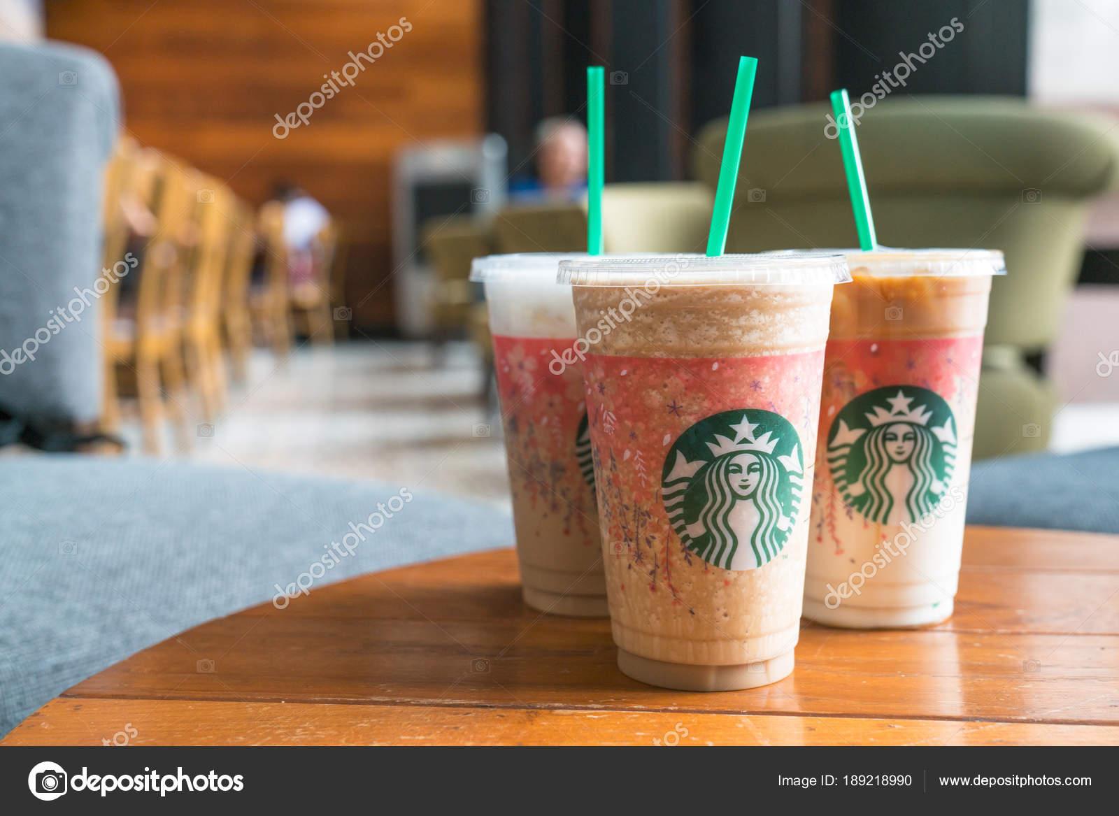 Glas von Starbuck Kaffee Frappuccino Blended Getränke. Starbuck ...