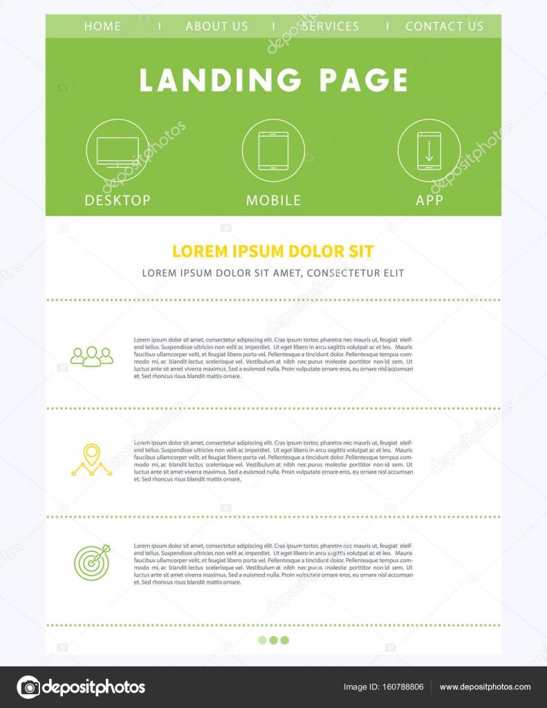 Concepto de página de aterrizaje, plantilla de diseño de sitio web ...
