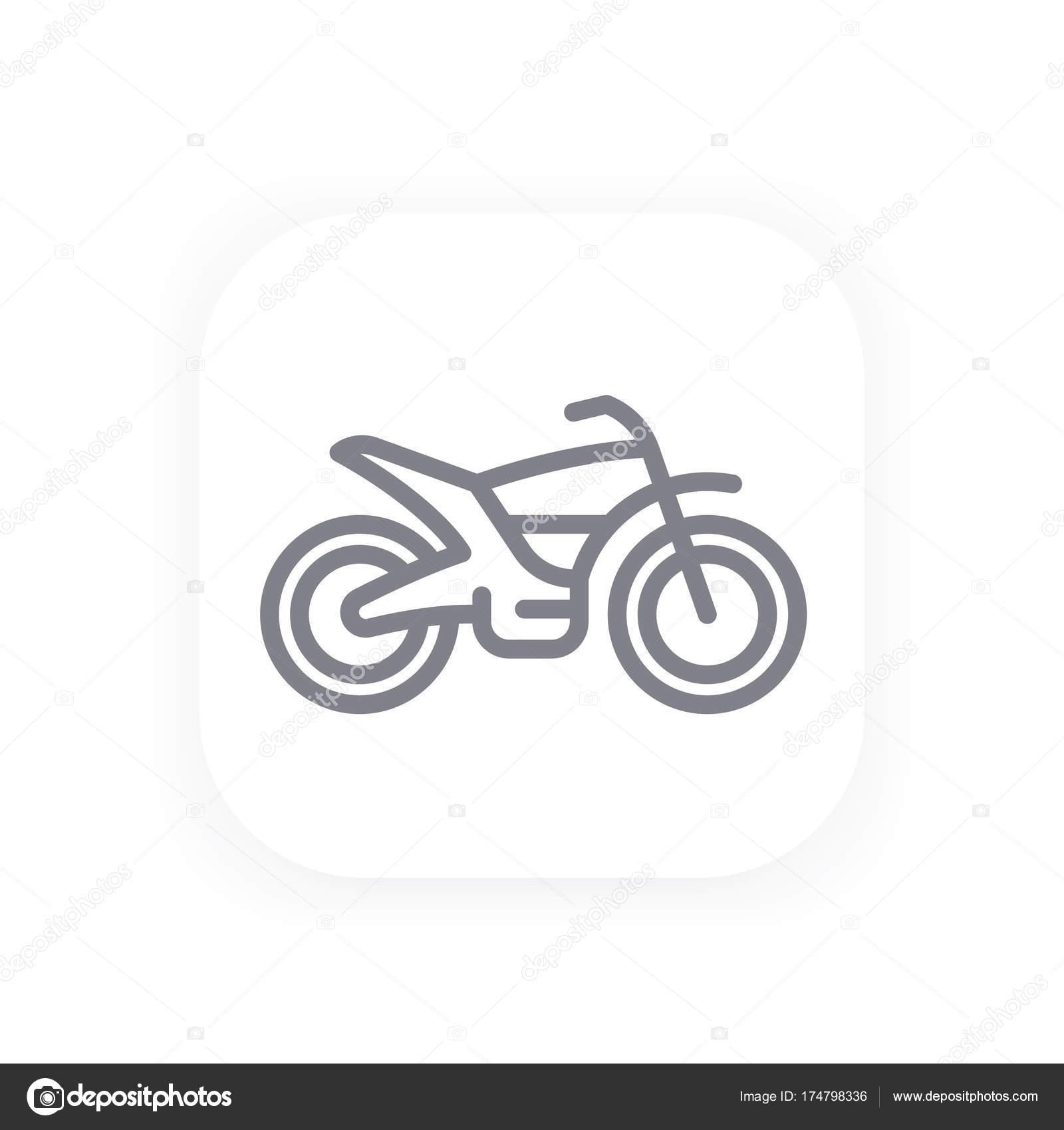 Offroad Bike Line Icon Motorcycle Vector Vector Image By C Nexusby Vector Stock 174798336