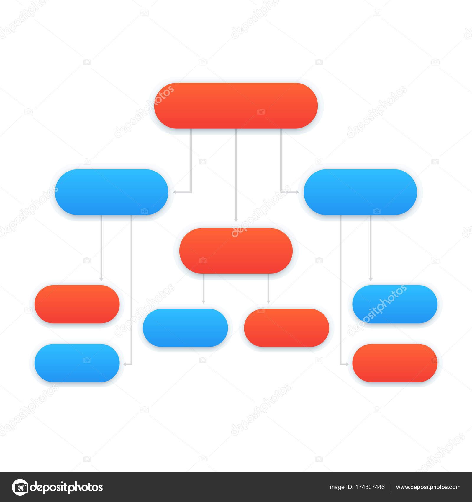 Flussdiagramm Vorlage, modernes design — Stockvektor © nexusby ...
