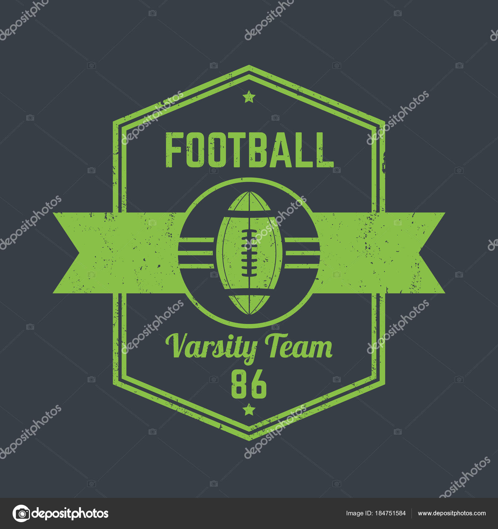 Logotipo vintage de futebol americano — Vetores de Stock © nexusby ... e0bf84e1d5342