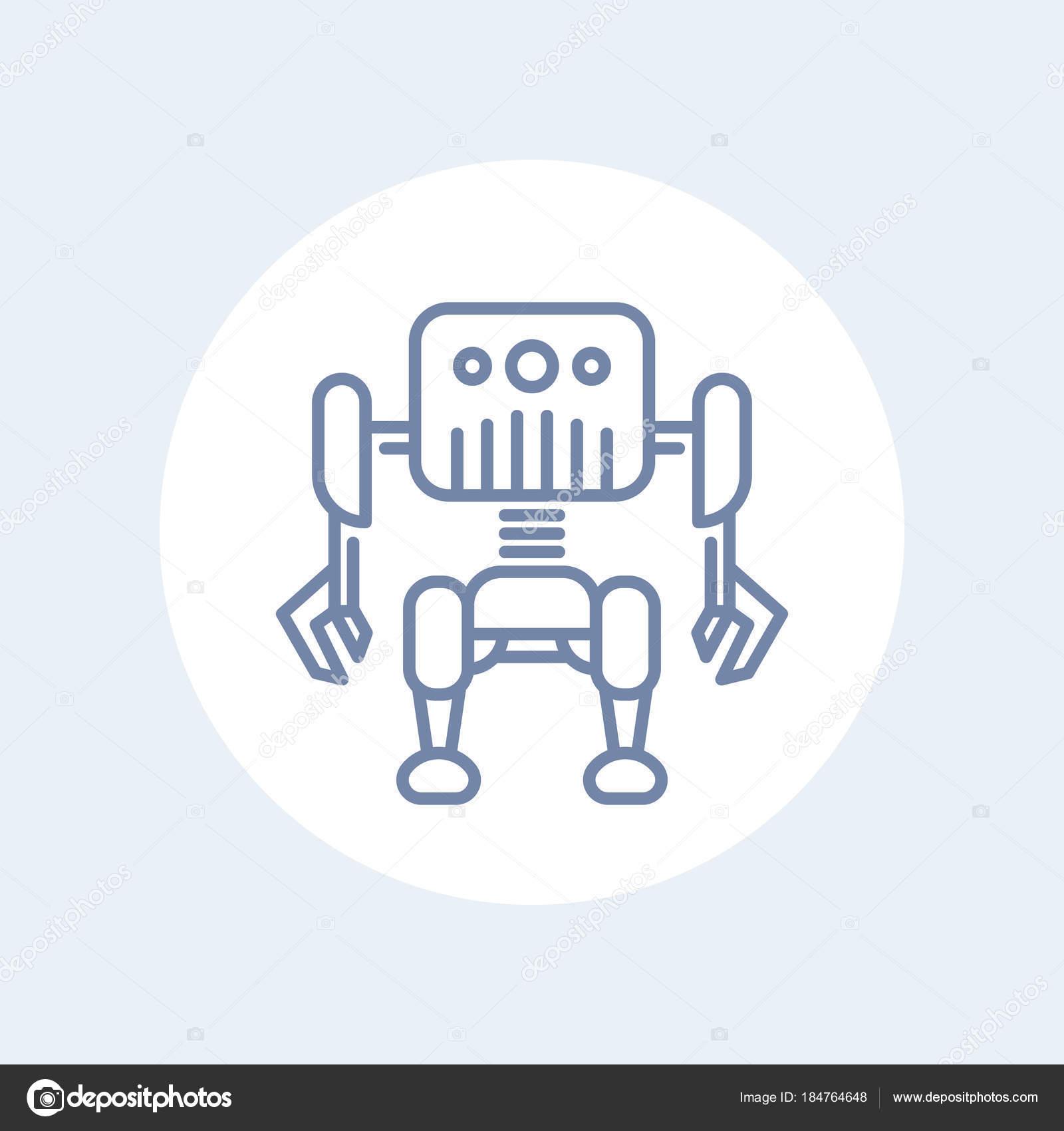 Robotics Robot Line Icon Stock Vector C Nexusby 184764648