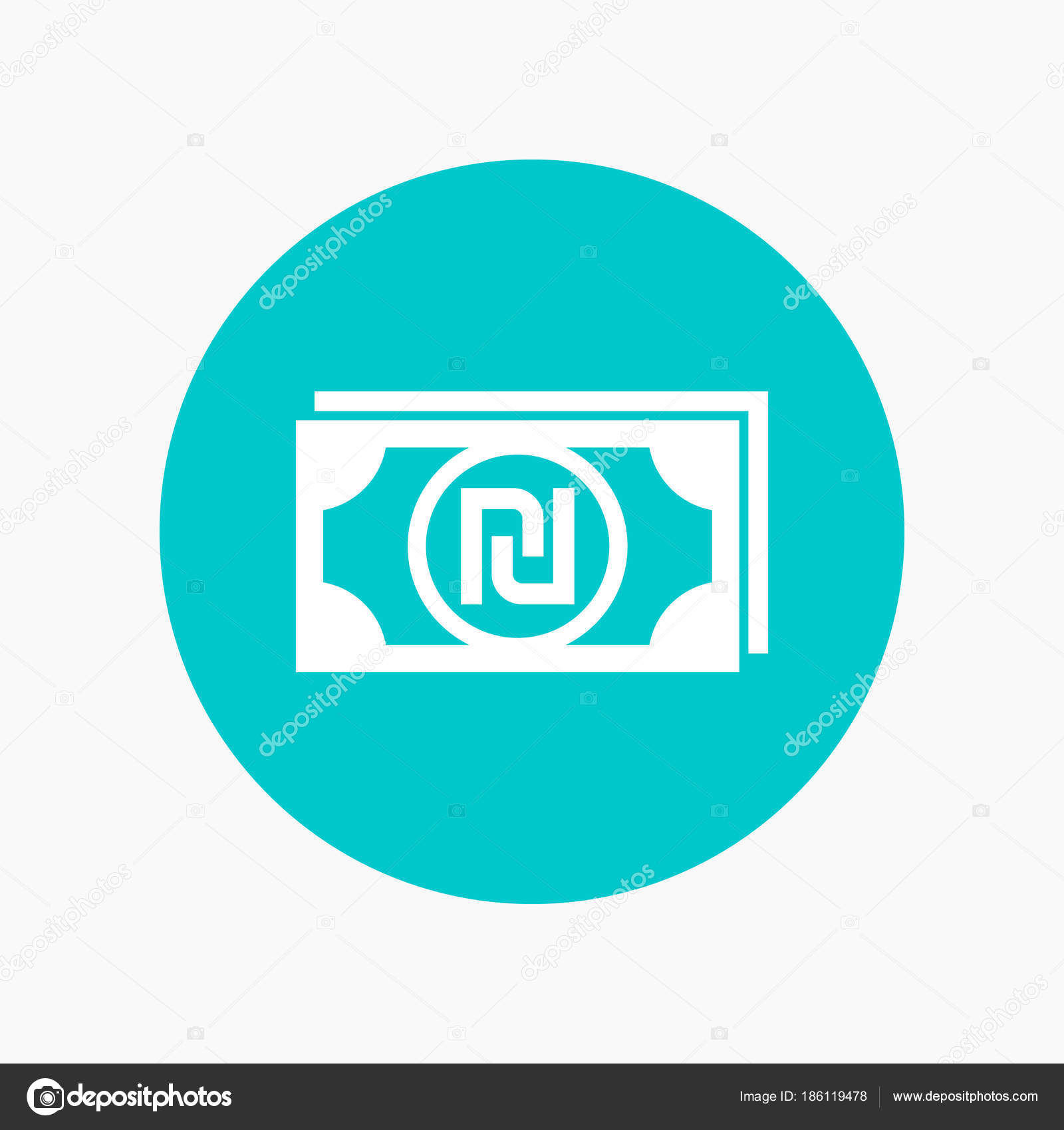 Shekel Icon Israeli Currency Symbol Stock Vector Nexusby 186119478