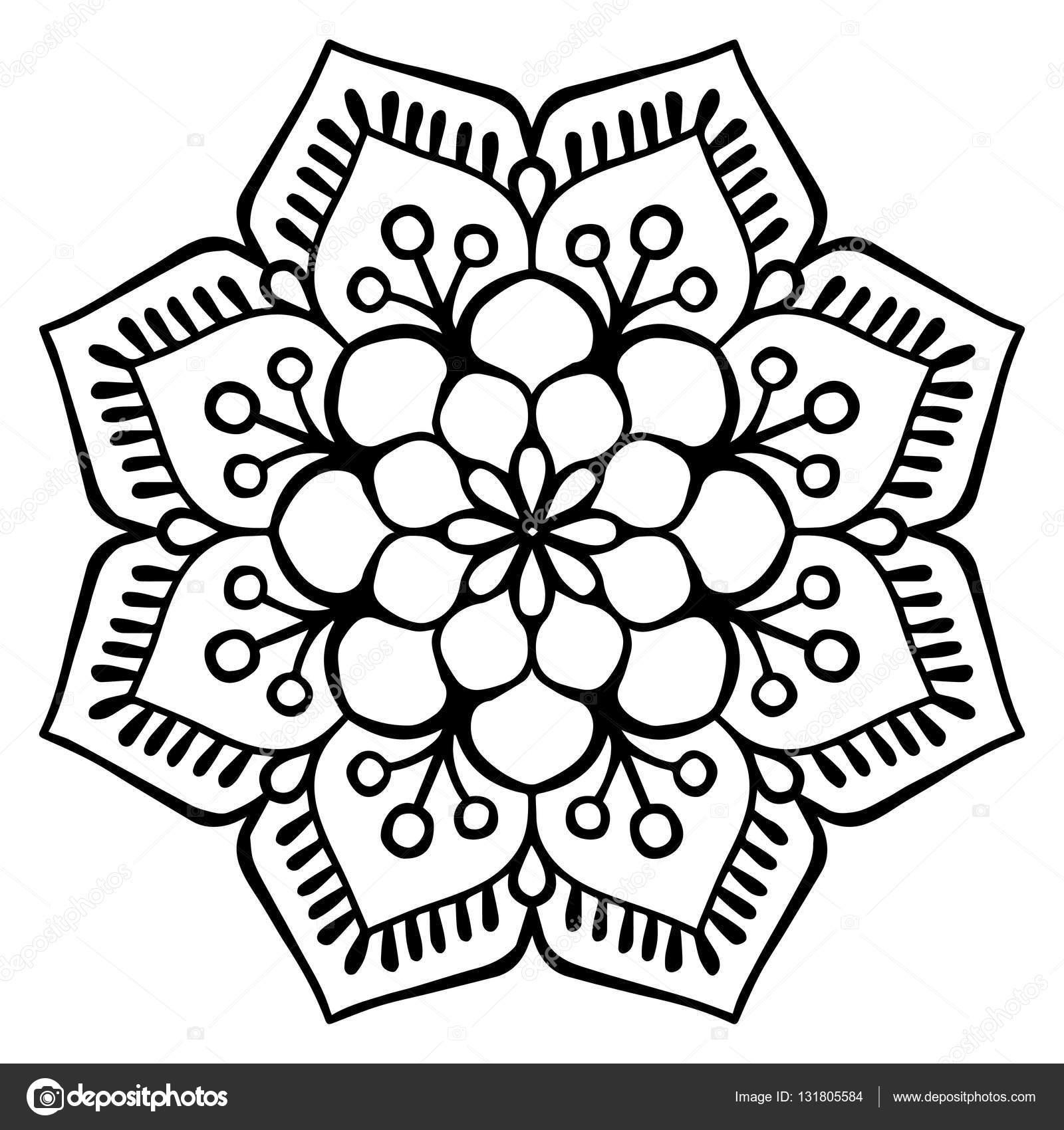 Vektor Indische Mandala Stockvektor Vikasnezh 131805584