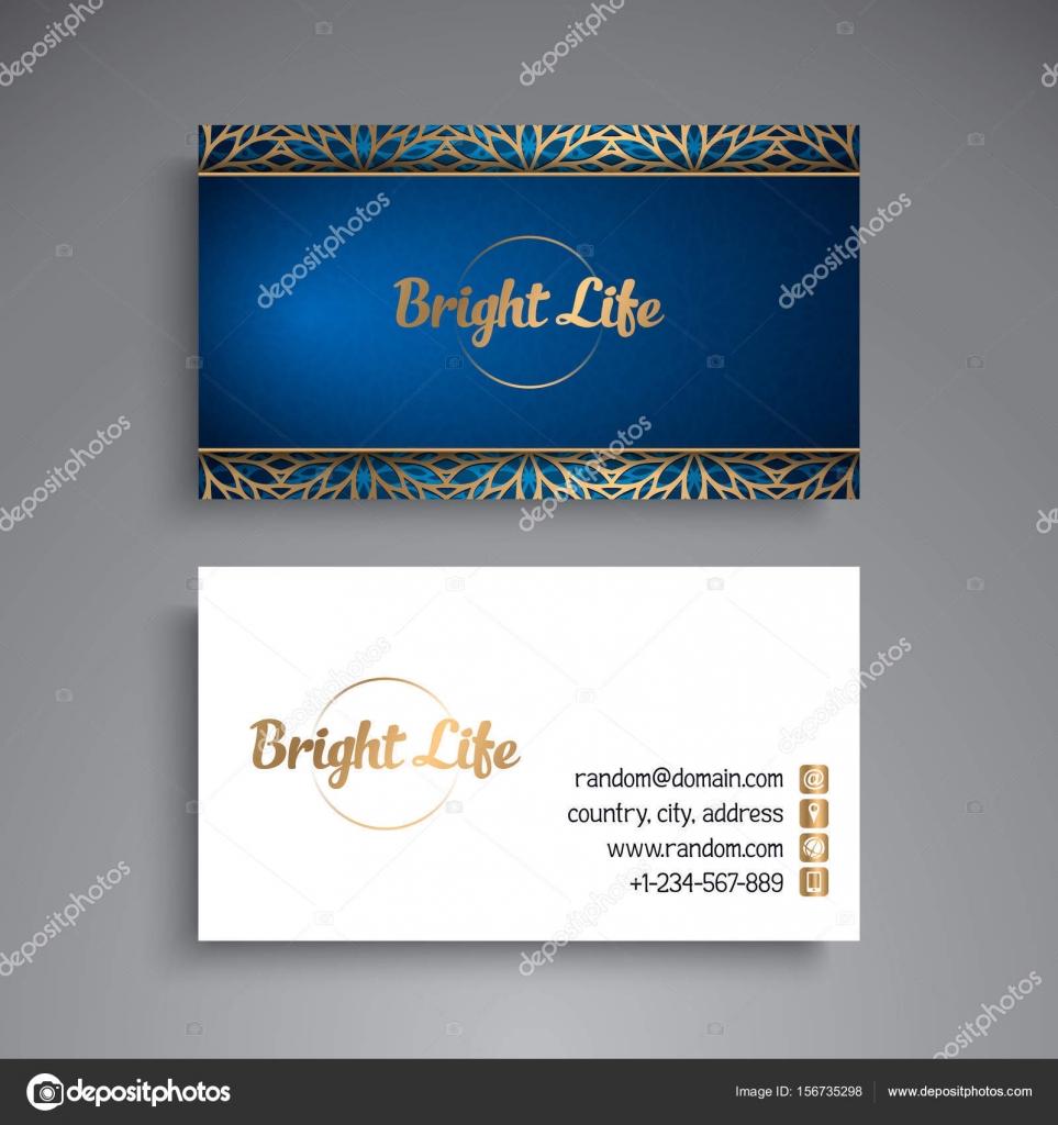 Business card vintage decorative elements vetor de stock business card vintage decorative elements ornamental floral business cards oriental pattern vector illustration vetor por vikasnezh reheart Choice Image