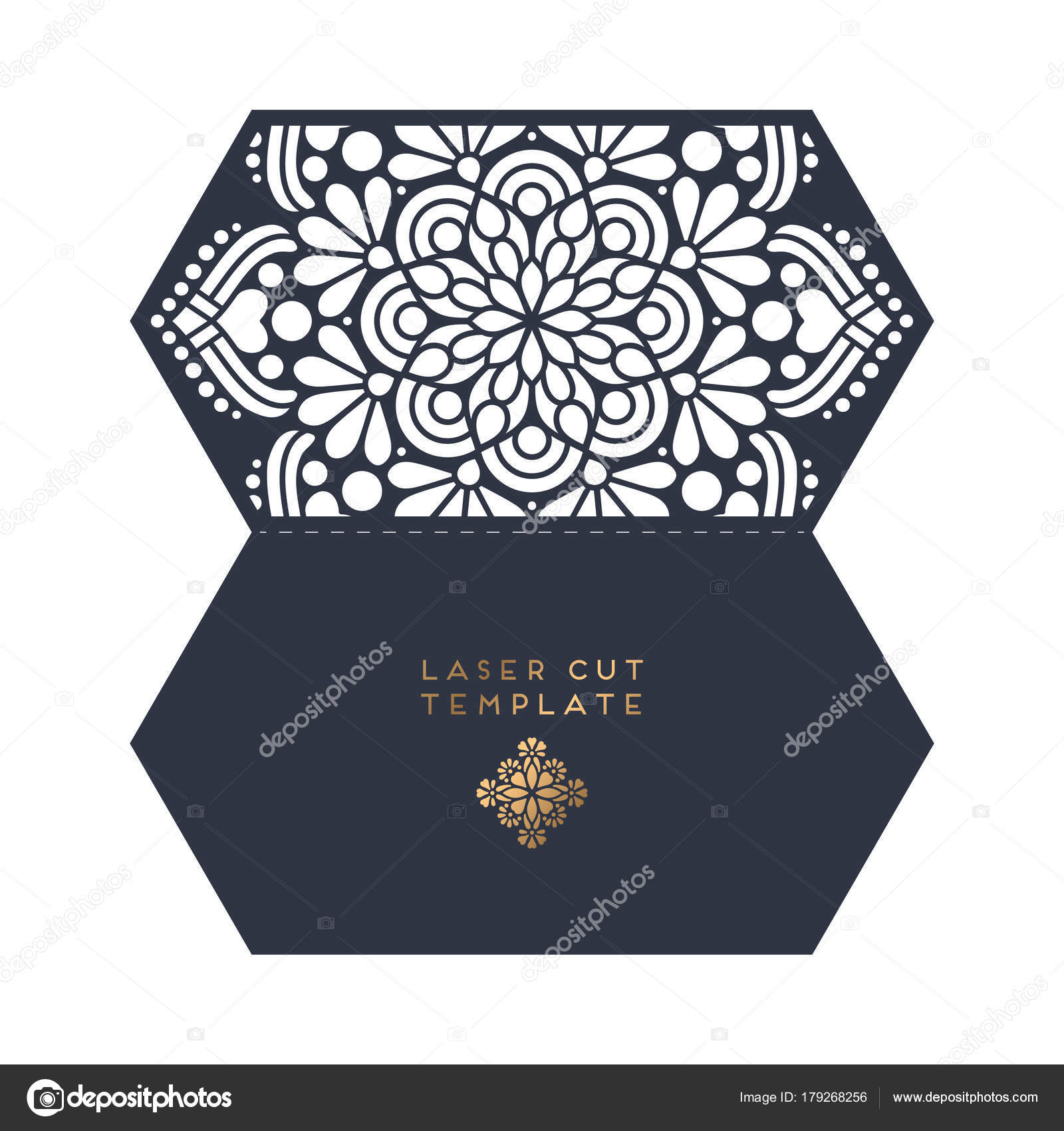 Vector wedding card laser cut template — Stock Vector © VikaSnezh ...