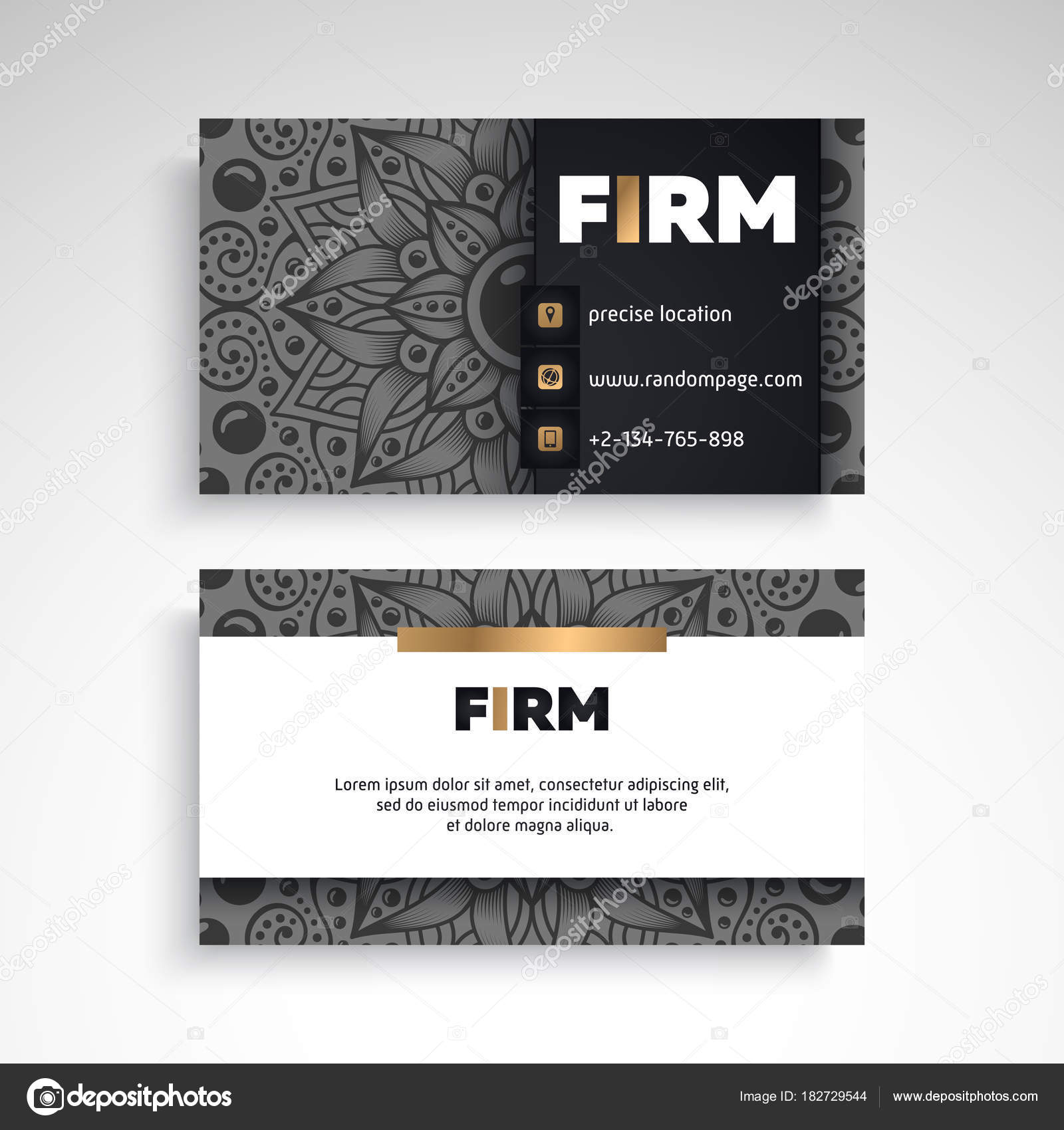 Business card vintage decorative elements ornamental floral business card vintage decorative elements ornamental floral business cards or invitation with mandala reheart Images