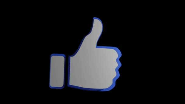 3d like thumbs up animation. Royalty Free Stock Footage