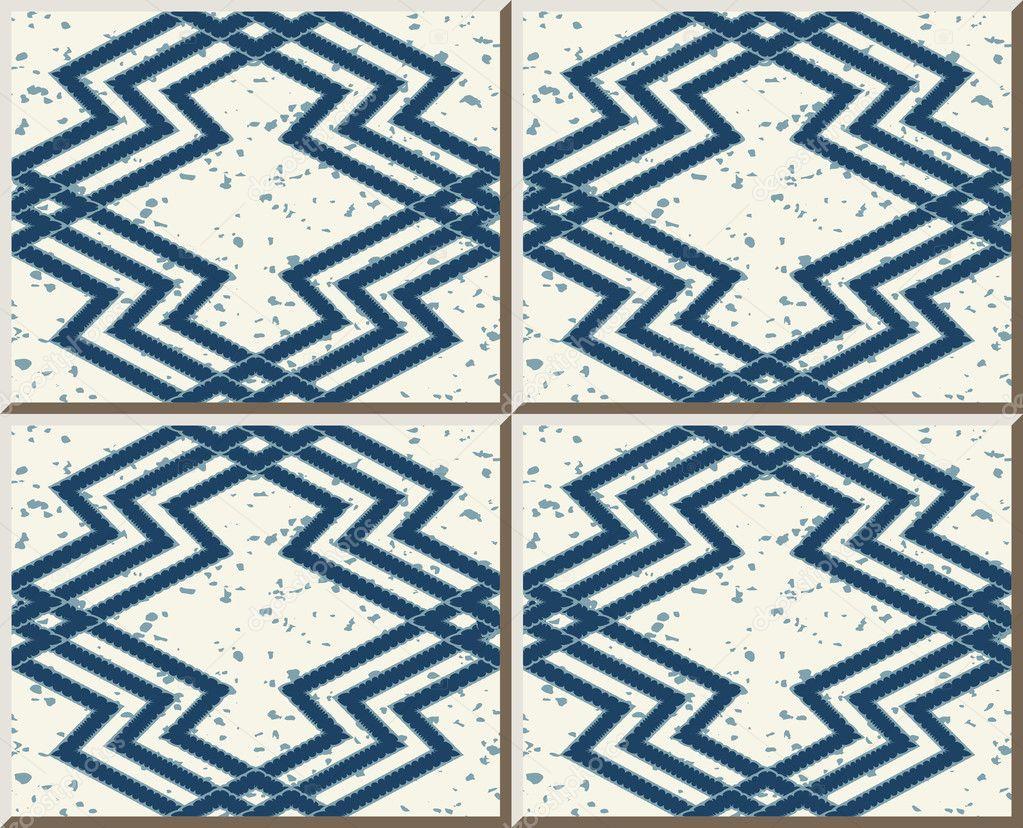 Ceramic tile pattern 434 sawtooth geometry cross line kaleidoscope ...