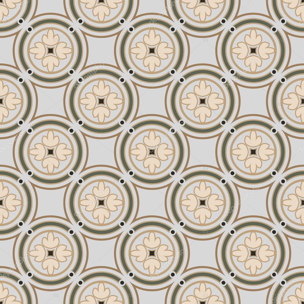 Nahtlose Hintergrundbild des Jahrgangs Runde Kreis Rahmen Kreuz ...
