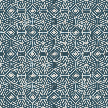 Seamless worn out vintage background 358_octagon triangle check cross geometry frame