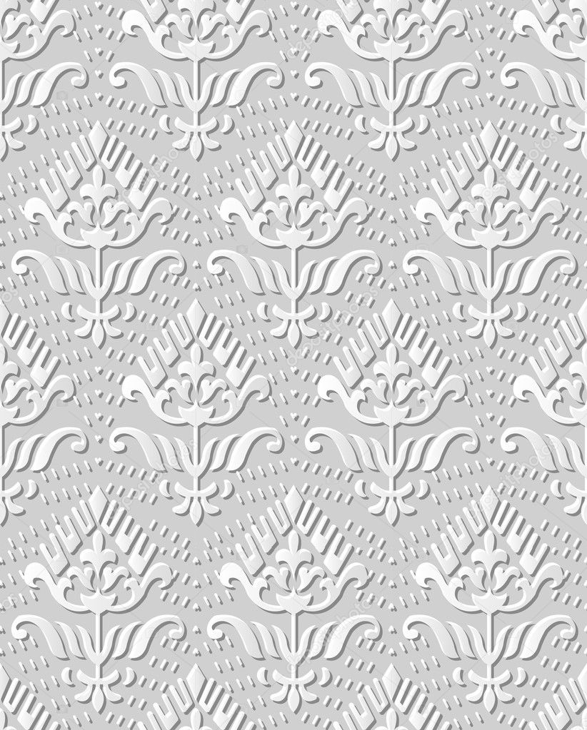 3D Papier Kunst 552 Punkt Linie Kurve Garten Blume — Stockvektor ...