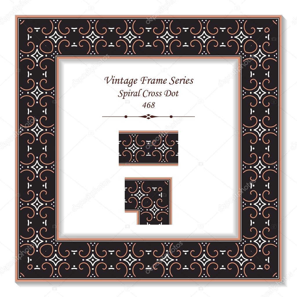 Vintage marco 3d 468 punto cruz de caracol — Archivo Imágenes ...
