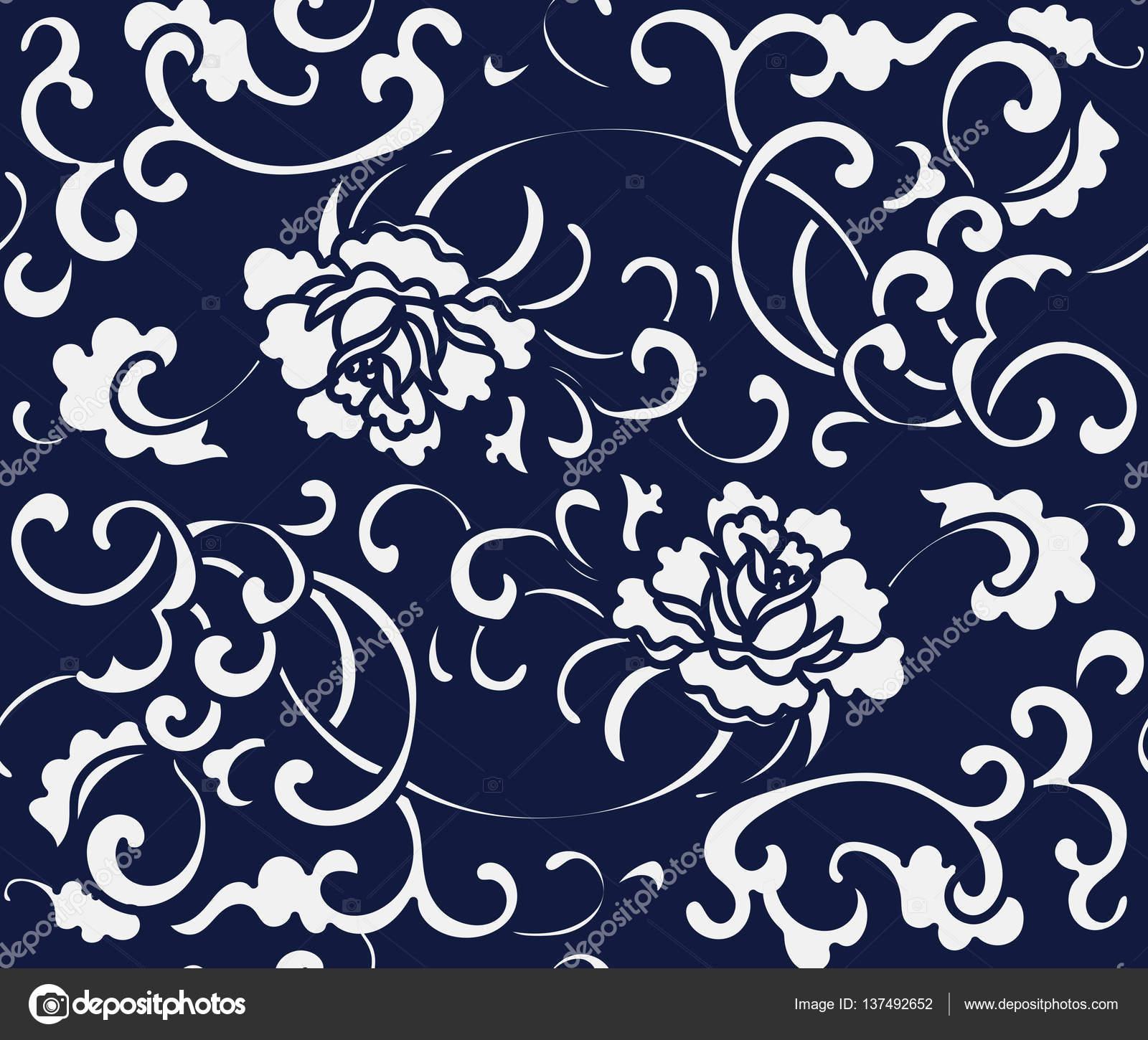 giunte senza giapponese giardino Fiore spirale di di blu a vite PqXwxUB
