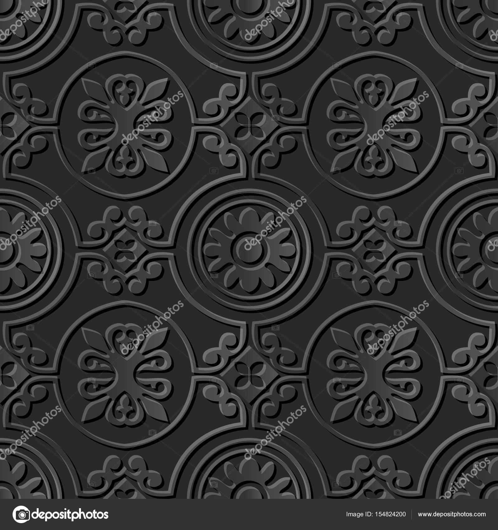 3D Papierkunst Runde Kurve Spirale Kreuz Rahmen Blume — Stockvektor ...