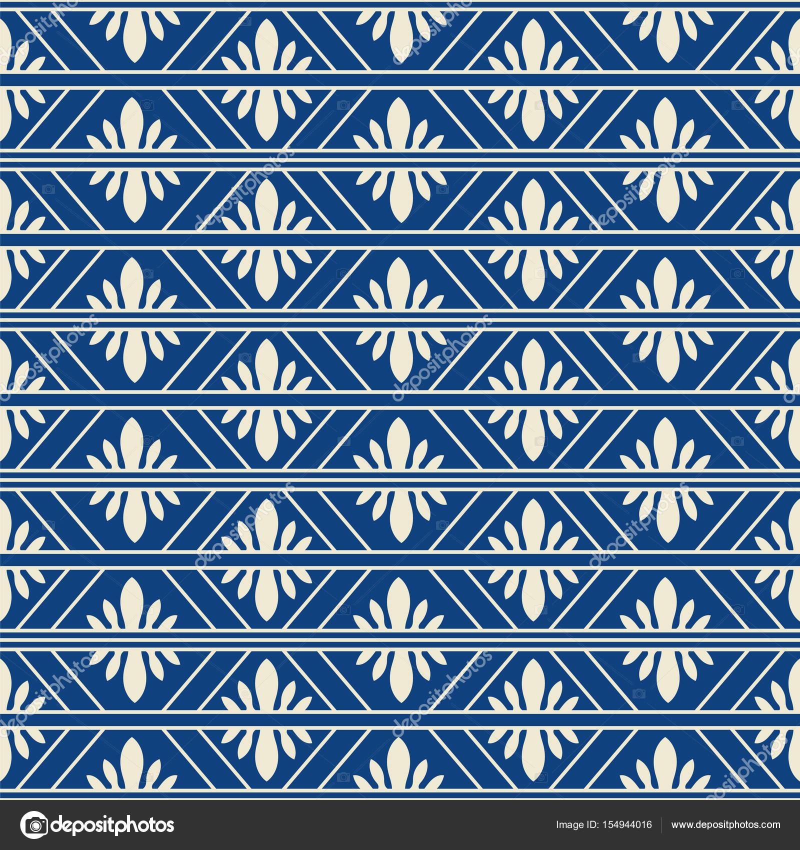Nahtlose Hintergrund China blau überprüfen Geometrie Rahmen Blume ...