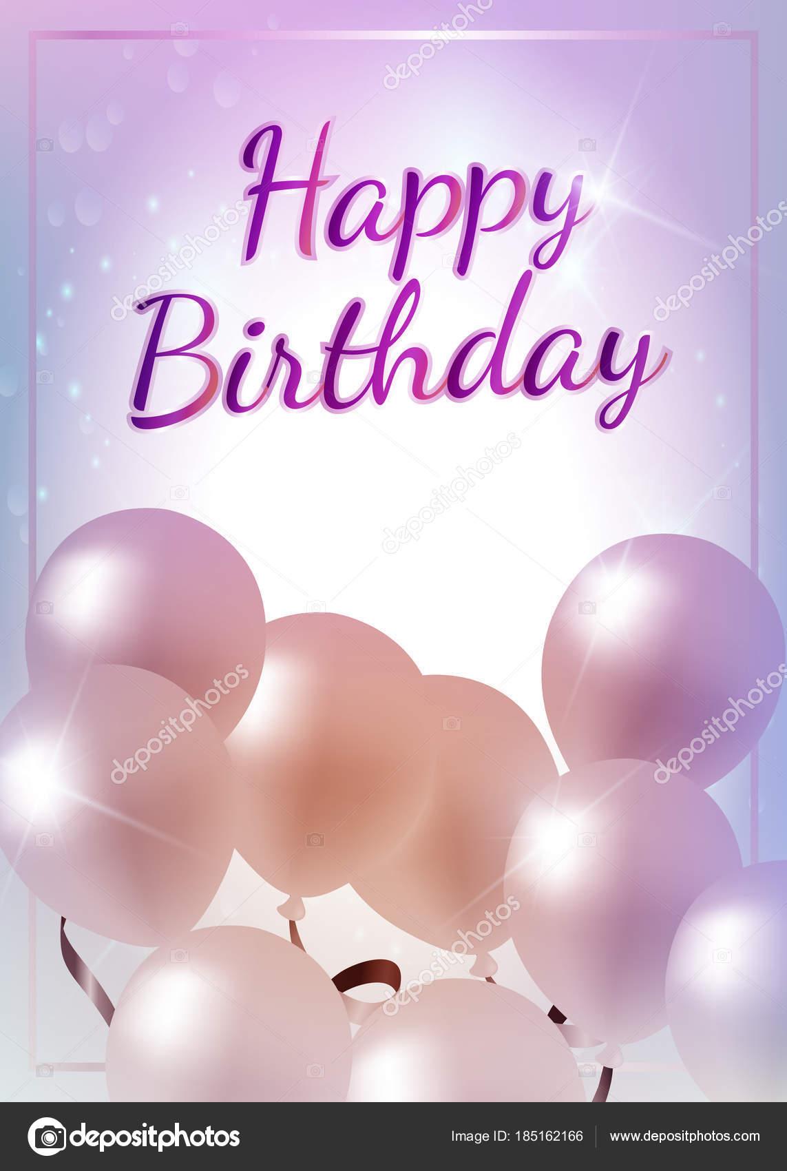 Da ragazzina buon compleanno shinning palloncini stelle di sfondo