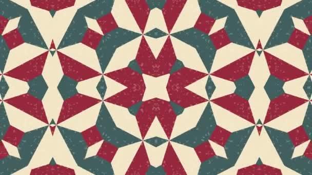 Kaleidoskop nahtlose Schleifensequenz Mandala-Muster abstrakte mehrfarbige Bewegungsgrafik Hintergrund. ideal für Yoga, Clubs, Shows